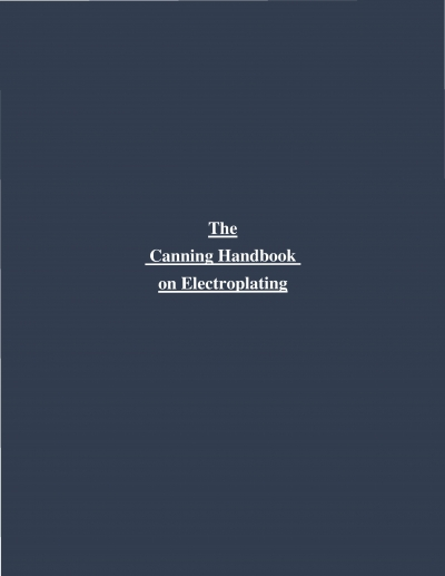 The Canning Handbook on Electroplating