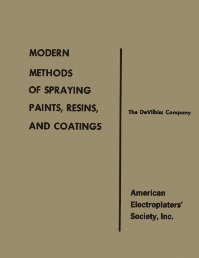MODERN METHODS OF SPRAYING PAINTS , AND COATINGS